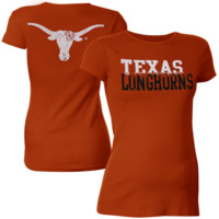 My U Texas Longhorns Maternity Literality T-Shirt - Burnt Orange