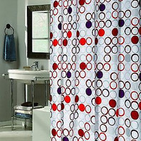 "Royal Bath Stall (54"" x 78"") Fabric Shower Curtain w/ Built in Hooks - Bohemia"