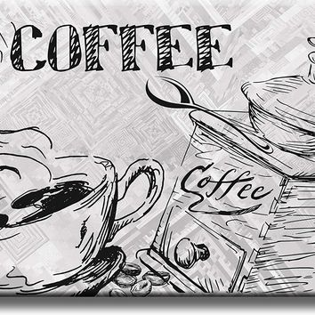 Coffee Drawing, Kitchen Picture on Acrylic , Wall Art Décor, Ready to Hang
