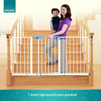 Free ship ! babysafe  metal iron gate baby safety gate pet isolation fence 75-82cm width Multi-size gate