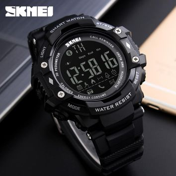 SKMEI WristWatch Bluetooth Smart Watch Waterproof Sport Pedometer Camera Smartwatch For Apple IOS and Android Digital Watch