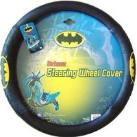 BDK WBSW-1301 Black Batman Steering Wheel Cover