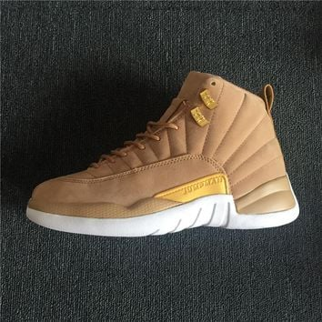 Air Jordan 12 Retro Wheat Suede Basketball Sneaker
