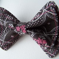 Black White and Pink Bow Tie, Bow Tie, Bowtie, Doctor Who Baby, Toddler Bow Tie, Mens Bow Tie, Newborn Bow Tie, Boys Bow Tie