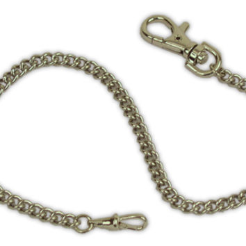 Premium Silver Tone Gentlemans Watch Chain