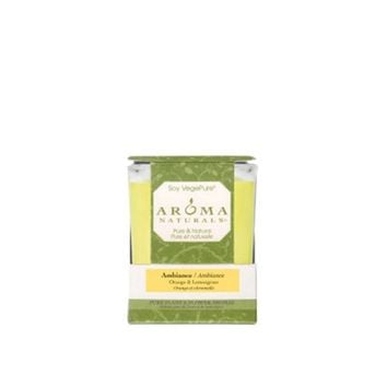 Aroma Naturals Soy Candle Amber Yellow Large Glass