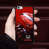 Best Honda Engine Red Logo Fit Hard Case For iPhone 6 6s 7 8 Plus X Cover +