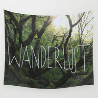 Wanderlust Wall Tapestry by Leah Flores