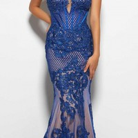 Sherry Lace Mermaid Prom Dress by Mac Duggal