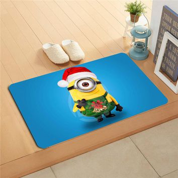 7.4#6 Free Shipping Custom Cute Minion Doormat Art Design Pattern Printed Floor Hall Bedroom Cool Pad Fashion Rug F#6