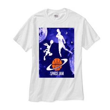 Space Jam Galaxy white tee