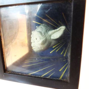 Vintage Star Wars Magic Cube Darth Vader and Yoda, The Empire Strikes Back, Holographic Box, Film Collectibles, Memorabilia, Holgram