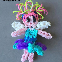 Rainbow Loom Charm - Rainbow loom fairy - Fairy - Loom Charm - Loom Band - Bracelet - Necklace Charm - Rainbow Loom - You Choose Color