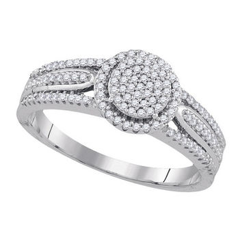 Diamond Miro-pave Ring in 10k White Gold 0.25 ctw