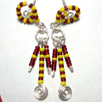 Pierced Earrings Corn Dance Pierced Earrings Handcrafted in USA
