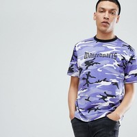 Wasted Paris London T-Shirt In Purple Camo at asos.com