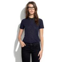 Embellished Collar Tee - short sleeve - shopmadewell's TEES & MORE - J.Crew