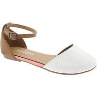 Old Navy Girls Ankle Strap Flats