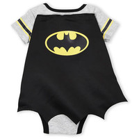 Batman Velcro Cape Back Baby Boy Onesuit