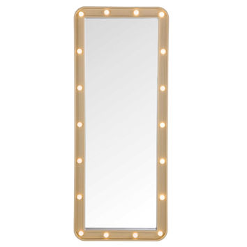 Door Solutions™ LED Light-Up Over-The-Door Marquee Mirror