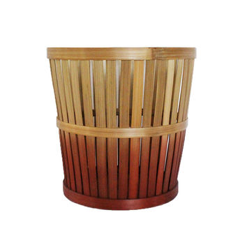 Ombre Small Bamboo Storage Basket