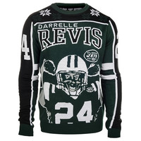New York Jets Darrelle Revis #24 Official NFL Player Ugly Sweater