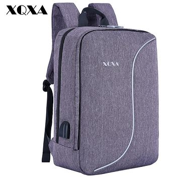USB Charging Anti Theft Backpack Men School Bags for Teens Notebook Laptop Bagpack Daily Casual