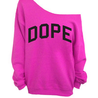Dope Hot Pink Slouchy Oversized Sweater