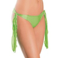 Flutter Side G-String Lime O/S
