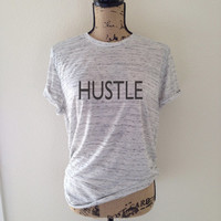 Hustle Workout Gym Tank Top for Women - Workout Exercise Shirts - Motivational Fitness Tanks - Women's Latest Gym Fashion