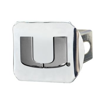 FANMATS University of Miami Hurricanes Chrome Hitch Cover - New!