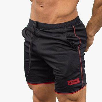 Summer mens shorts Calf-Length Fitness Bodybuilding fashion Casual gyms Joggers workout Crossfit Brand short pants Sweatpants