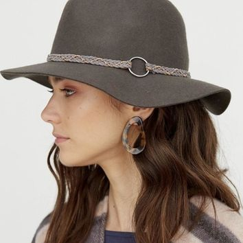 Wide Brim Braided Hat