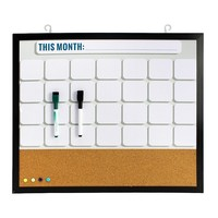 Simple by Design Monthly Calendar and Cork Board Wall Decor