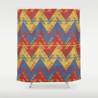 Aztec Shower Curtain by Knm Designs