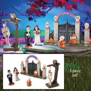 Miniature Skeleton Graveyard - Set of 5