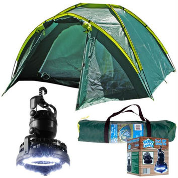 Whetstone  Three Person Tent Plus 2-in-1 Light and Fan