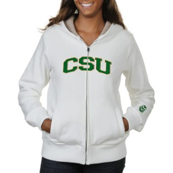 Colorado State Rams Ladies Huddle Full Zip Sherpa-Lined Hooded Jacket - White
