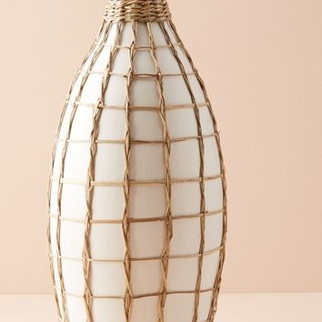 Anthropologie Wrapped Seagrass Vase | Nordstrom