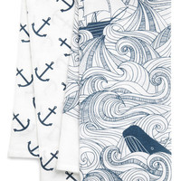 ModCloth Nautical Swell Acquainted Tea Towel Set