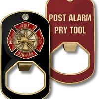 Fire Fighter Dog Tag Bottle Opener