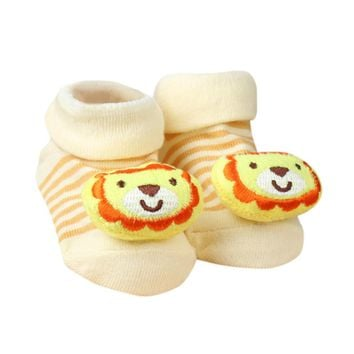 Newborn Baby Cartoon Socks For Boys and Girls Toddler Infantil Anti-Slip Cotton Animal Sock Bebe Meias New Born Socks