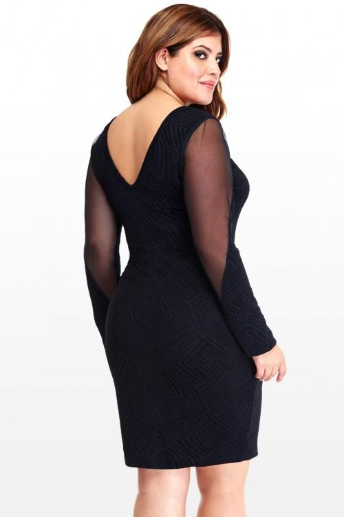 Plus Size Diva Mesh Inset Dress Fashion From Fashion To