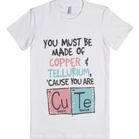 Are You Copper And Tellurium-Female White T-Shirt
