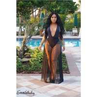 Full Length Sheer Swimsuit Cover Up
