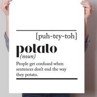Potato Dictionary Definition Print
