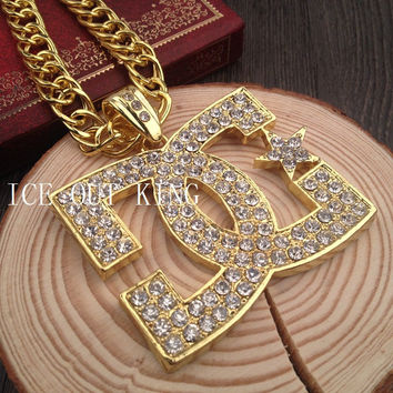 New Arrival Jewelry Shiny Gift Stylish Diamonds Alloy Hip-hop Club Necklace [6542724355]