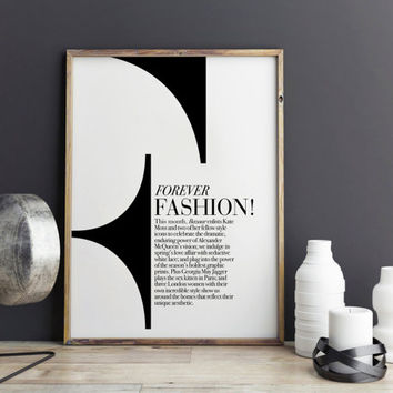 FASHION Print Typography - ALL 4 PRINTS! Fashion quotes, Fashion Magazine illustration, art, wall art