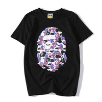 Boys & Men Bape Print Summer Shirt Top Tee