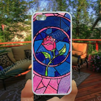 Rose case Beauty and the beast iphone 4/4s case iphone 5/5s/5c case samsung galaxy s3/s4 case galaxy S5 case Waterproof gift case 502
